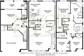 3 storey house plans townhouse floor plans three distinctive building plans