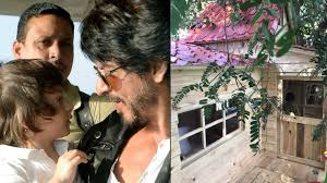 srk gauri gift little abram a beautiful tree house