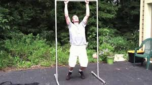 Backyard Pull Up Bar by Trapeze Rigging Pull Up Bar Review Youtube