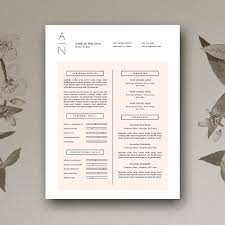 resume u0026 cover letter cv design resume templates creative market
