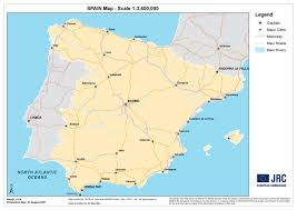 Map Of Madrid Spain by Large Detailed Map Of Spain Spain Large Detailed Map Vidiani