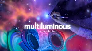 multiluminous 3 in 1 glow in the dark art prints by bogi fabian