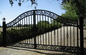 wrought rod iron gates and rot fence designs sonoma county