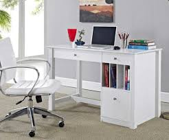 home office desk white with sleek and modern design that equipped