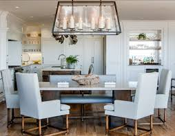 beach house style dining room with chairs contemporary chandeliers
