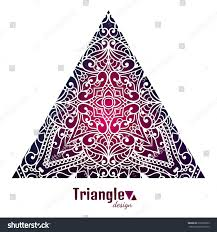 abstract triangle design lace pattern tribal stock vector