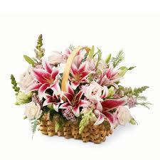 stargazer bouquet stargazer lilies basket at send flowers