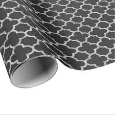 moroccan wrapping paper quatrefoil black white artist deco moroccan chalk wrapping paper