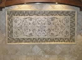 elegant kitchen backsplash mural ideas featuring marble kitchen