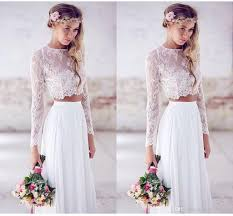wedding gowns for sale discount 2015 sale two pieces crop top white wedding dresses