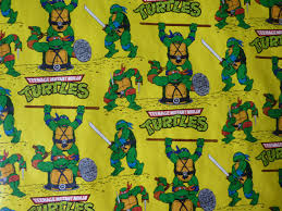 tmnt wrapping paper vintage mutant turtle roll of wrapping paper 1989