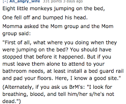 No More Monkeys Jumping On The Bed Song This Reddit Parody Of 10 Little Monkeys Is The Best Thing You U0027ll