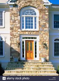 stone house facades front entrance of elegant house with stone
