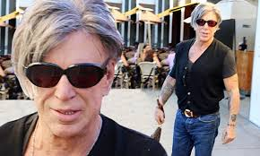 Mickey Rourke News Newslocker - mickey rourke 62 shows off his freshly coiffed silver locks as he