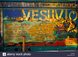 vesuvio tavern exterior window mural north beach italian district
