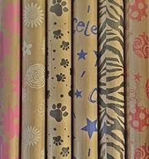 zebra print wrapping paper printed kraft paper wrapping paper 30 x 10 rolls