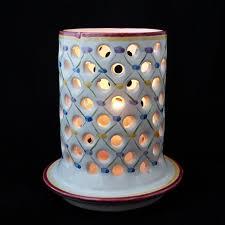 decorative candle holder home decor lantern white ceramic