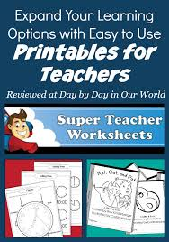easy to use printables for teachers for learning day by day in