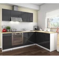cuisine et grise cosy cuisine complète 2m80 laqué gris achat vente cuisine