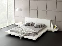 bedroom endearing white bedroom design using white platform bed