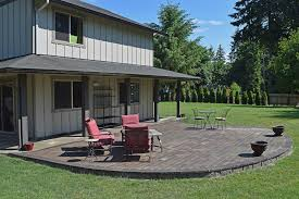 Raised Paver Patio East Olympia Raised Patio Ajb Landscaping Fence