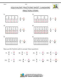 fractions math equivalent fractions worksheet
