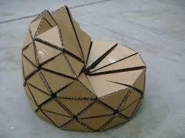 Cardboard Origami - cardboard chair search cardboard furniture