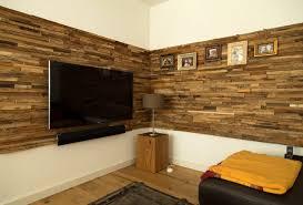 Dekoideen Wohnzimmer Holz Wandgestaltung Holzoptik