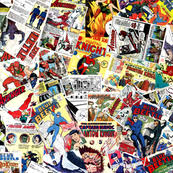 comic wrapping paper comic fabric wallpaper gift wrap spoonflower