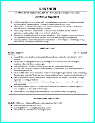 Resume Format Pdf For Mechanical Engineering Freshers by Sample Resume For Chemical Engineering Freshers