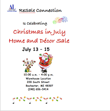 Resale Home Decor Celebrate Christmas In July At The Resale Connection U0027s Home And