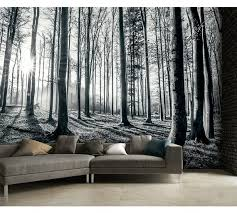 buy 1wall black and white forest wall mural at argos co uk your