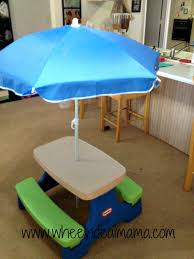 little tikes easy store jr play table with umbrella review