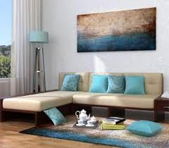 Corner Sofa In Living Room - buy living room furniture online india starts u20b9 1 499 woodenstreet
