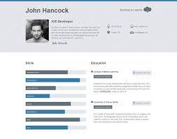 resume website template top cv website template designs for you