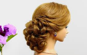 hair tutorials for medium hair curly prom hairstyle for long medium hair tutorial wedding updo