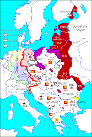 map of euorpe map europe after the second world war