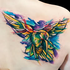 80 best watercolor hummingbird tattoo meaning and designs 2017