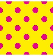 seamless dark pattern with big neon pink polka dot