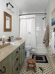 small cottage bathroom ideas vintage bathroom look hexagon tile floor and subway tile with