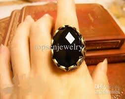 stone rings style images 2018 vintage retro style black acrylic stone ring with gemstone jpg