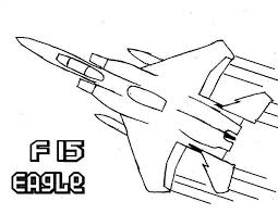 airplane f15 eagle super jet fighter coloring airplane f15