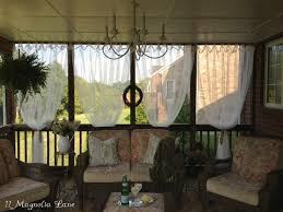 How To Hang Sheers And Curtains Inexpensive Sheer Curtains Add Privacy To Screened Porch 11