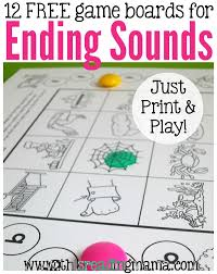 ending sounds games just print u0026 play