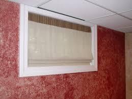 Modern Basement Window Blinds With Sheer Shades For Basement