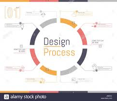 vector illustration outline circular infographic of desing