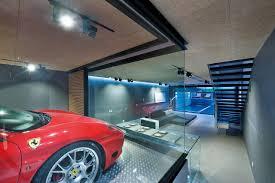 split level garage an ultra modern house in hong kong with a glass walled garage