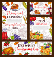 happy thanksgiving day turkey banner vector royalty free stock
