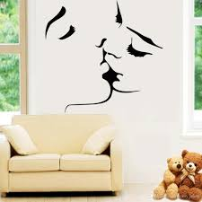 home decoration online love kiss vinyl wall stickers on the walls bedroom wedding