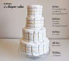 diper cake cake tutorial baby shower